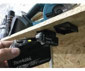 Power tool battery mount for Makita 18V - 5 pack - Black