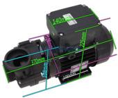 Vico UltraJet 48F Spa Pump - 2.0HP - 2 Speed