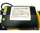 LX TDA200 Spa Pump - 2.0HP - 1 Speed