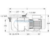 Sta-Rite 5P2R Series Pump - Single Phase