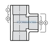 1/2 Inch PVC Tee - Equal