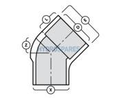 2-00 Inch PVC Elbow 45° - Street