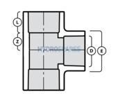 2-00 Inch PVC Tee - Equal