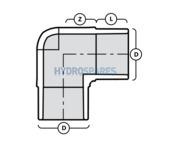32mm PVC Elbow 90° - Street