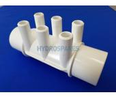 """2.0"""" Spigot x 2"""" Spigot x (6) 3/4"""" Port Water Manifold"""