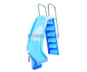 Right curve Slide with ladder.