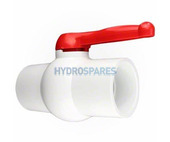 "CMP - Ball Valve - Two-Ways - 2.0"" - Red Handle"