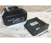 Power tool battery mount for Makita 18V - 5 pack - Black