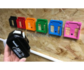 Power tool battery mount for Makita 18V - 2 pack - Red
