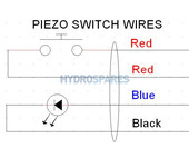 22mm Piezo Switch - 5Vdc - Stainless Steel - Blue LED