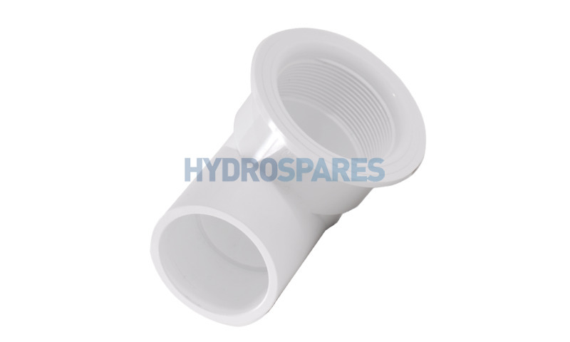 """Suction Nut Elbow - 50mm ID/2"""" OD White"""