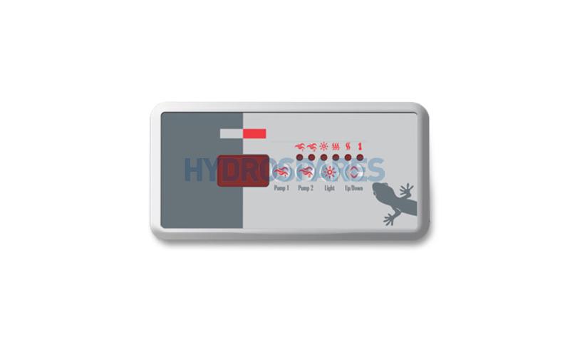 Overlay TSC-18 Only - 9916-100240 (Pump 1, Pump 2, Light, Up/Down)