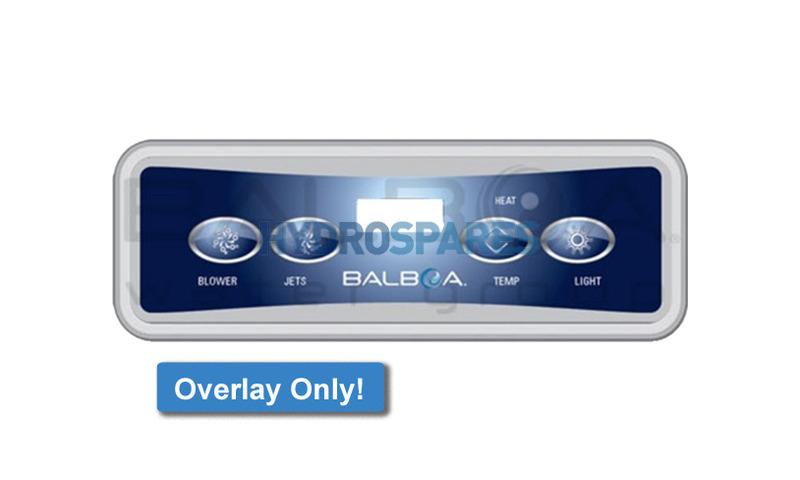 VL401 Overlay Only (Blower, Jets, Temp, Light)