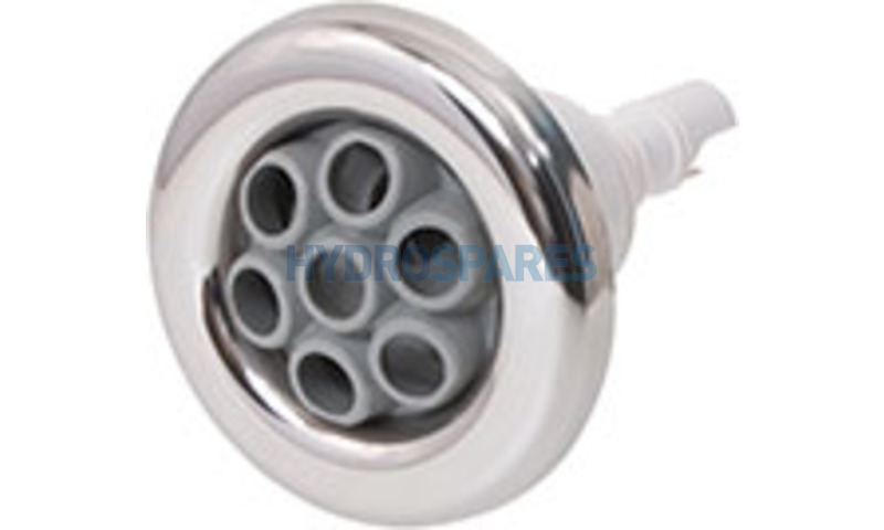 """Jet Front - 3-3/8""""- Pulse Massage - Stainless/White"""