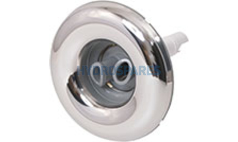 """Jet Front - 4""""- Twin Roto - Stainless/White"""