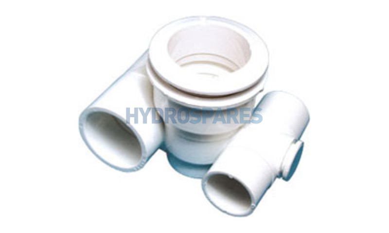 """Jet Body - Tee - 1"""" S Air x 1 1/2"""" S Water (with Top Plug)"""