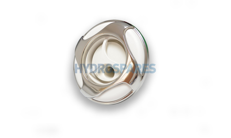 """Jet Front - 5-1/4""""- Twister - Reverse Swirl - White/Stainless"""