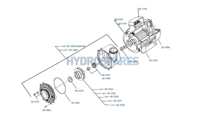 Waterway - Hi Flo 48F Pump Series - Spares